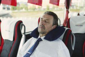 Pripučiamas pagalvėlė dovanojama kiekvienam VIP keleiviui