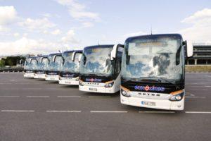 Jaunie un modernie autobusi nodrošinās ērtu un patīkamu braucienu.
