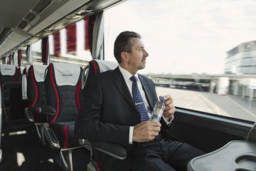 Free bottle of water for each passenger Eurolines