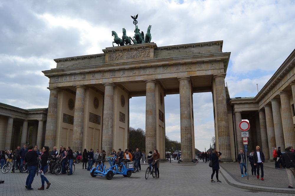 Brandeburgo vartai, į Berlyną autobusu