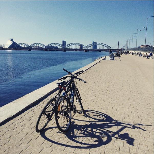 Rygoje su dviračiais